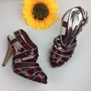 BCBGirl sandals. Red wine, size 9B/39